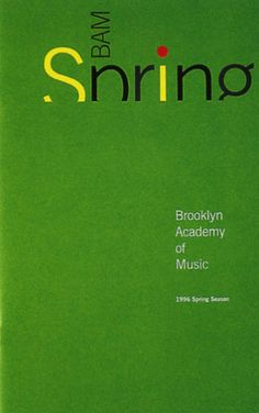 Brooklyn Academy of Music Spring 1996 Brochure