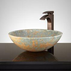 Nansi Round Blue Onyx Sink