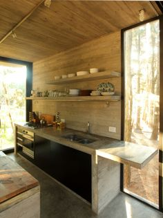 cottage cabin retreat BAK Architects, Kitchen