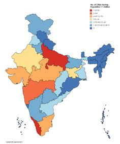 India Map with cities - blank outline map of India-   jose ...