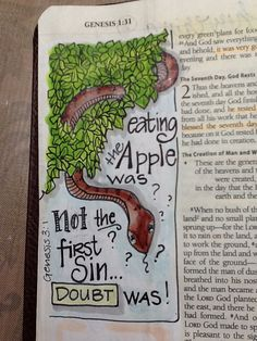 Gen 3:1 - Bible Journaling by Nola Pierce Chandler