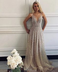 Hottest Wedding Dresses Collections for 2021 ❤ best wedding dresses a line v neckline sequins beach one day #weddingforward #wedding #bride