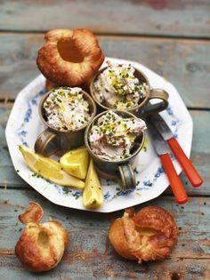 Yorkshire puddings, smoked trout and horseradish pate - Jamie Oliver Festive Feast