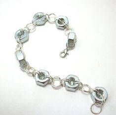 Chainmail Industrial Hex Nut Bracelet by moonknightjewels on Etsy