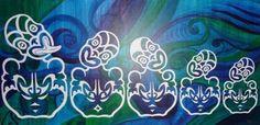 Tiki - Whanau Polynesian Art, Maori Designs, Nz Art, Maori Art, Kiwiana, Family Tattoos, New Zealand, Artworks, Mixed Media