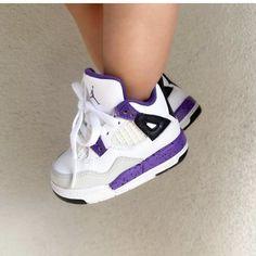 Jordan 4, Jordan Retro, Baby Sneakers, High Top Sneakers, Baby Feet, High Tops, Kicks, Running, Purple