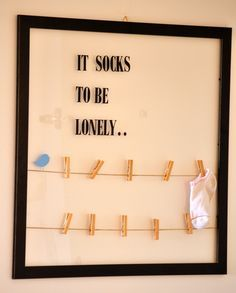 cute idea for the laundry room.