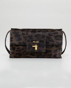 6b683b595e19 Leopard-Print Calf Hair Crossbody by Prada at Neiman Marcus. My fave item  from