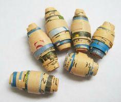 Miçangas de papel são exclusivas, ecológicas, baratas, práticas e divertidas. Aprenda a fazer bijuterias com revistas e jornais