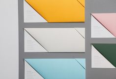 Stationery with fold detail designed by Jamie Mitchell and Maud for The Star Event Centre.