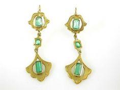 Art Nouveau Drop Earrings
