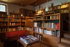 maison louis carré beautiful home library