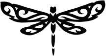 tribal dragonfly tat