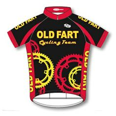 7dfb0d9a5 Old Fart Cycling Team Jersey men s short sleeve - Black Red Yellow - With  DeFeet Socks