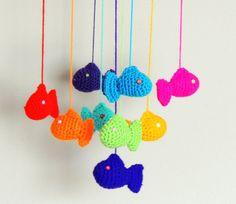 Crochet Mobile Fish Baby Mobile by SimplyStitcheduk on Etsy, £14.00