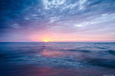 Daybreak, Lake Michigan  by Matthew John George on Capture Wisconsin // Schlitz-Audubon, Fox Point, WI