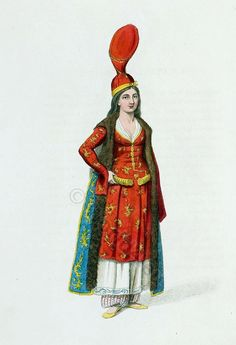 Turkish harems dress. A SULTANA, OR ODALlSK. Ottoman Empire Costume