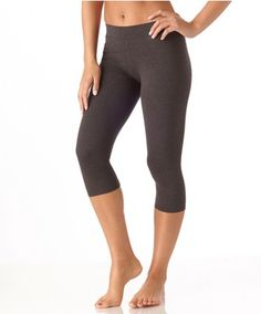 Women's Everyday Charcoal Cropped Leggings