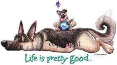 German Shepherd Life Is Pretty Good Cartoon Dog, Cartoon Characters, German Shepherd Dogs, German Shepherds, Dog Poses, Pet Dogs, Pets, Pretty Good, Image Search