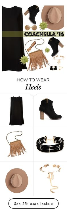 """""""Untitled #2724"""" by deeyanago on Polyvore featuring Eugenia Kim, McQ by Alexander McQueen, Victoria Beckham, Satya Twena, Patchington, Forever 21 and packforcoachella"""