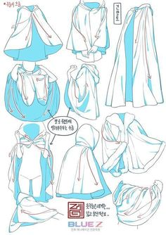 Anime manga drawing references for capes Drawing Anime Clothes, Drawings Of Clothes, Clothing Sketches, Anime Drawings Sketches, Pencil Drawings, Drawing Base, Human Drawing, Drawing Drawing, Scarf Drawing