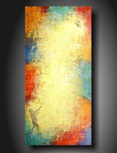 Art original Abstract painting Huge JMJARTSTUDIO by JMJARTSTUDIO, $199.00