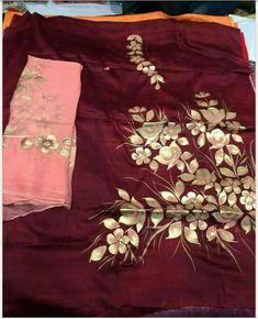 Stylish Dress Designs, Stylish Dresses, Fashion Dresses, Hand Painted Dress, Painted Clothes, Sari Blouse Designs, Kurta Designs, Designer Punjabi Suits, Indian Designer Wear