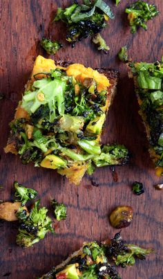 Sweet Potato and Broccoli Toasts recipe: You can make everything in advance, but don't assemble them until just before serving.