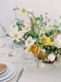 Rustic Spanish Inspired Bridal Shoot via Magnolia Rouge Wedding Arrangements, Wedding Table Centerpieces, Flower Centerpieces, Flower Decorations, Floral Arrangements, Wedding Decorations, Graduation Centerpiece, Quinceanera Centerpieces, Simple Centerpieces