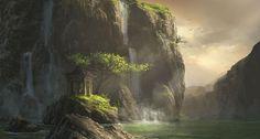 digitale landschaften | in 2d digital digital paintings illustrations scenery landscapes tags ...