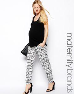 Mama Licious Mamalicious Printed Jersey Joggers on shopstyle.com.au