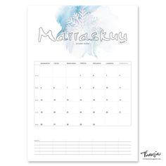 Marraskuun 2018 tulostettava seinäkalenteri #kalenteri #kalenteri2018 #marraskuu#tulostettava #ilmainen #free #print#calendar #November2018