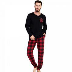 Pijama Barbati Gazzaz by Vienetta, 'Moped Motors' Black Motors, Pajama Pants, Pajamas, Sweatpants, Lady, Fashion, Pjs, Moda, Sleep Pants