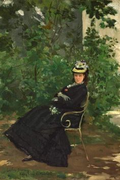 Painting by Carolus-Duran, ca. 1878, Alice Hoschedé (1844-1911), second wife of Claude Monet and mother of Blanche Hoschedé Monet. Before being with Manet, she was the wife of department store magnate and art collector Ernest Hoschedé.