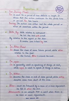 Preposition - New Sites English Grammar Notes, English Grammar Exercises, English Grammar Tenses, English Prepositions, Teaching English Grammar, English Grammar Worksheets, English Writing Skills, Grammar Lessons, English Language Learning