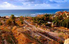 LEBANON , BYBLOS, RUINS