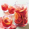Strawberry and Peach Sangria. Saving this for when strawberries and stone fruits are in season! Yum!