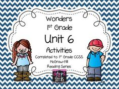 The Glyph Girls have created this 120 page product to supplement the McGraw-Hill Wonders Reading Series, Unit 6. Activities target specific phonics skills, high frequency words, spelling and grammar for each week. They provide practice for Literacy Stations, small group instruction, or homework.