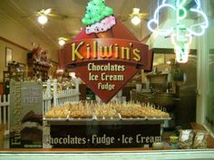 Kilwin's since 1947 started in Petoskey, Michigan. The most amazing ice cream, fudge and caramel apples...YUM!