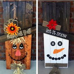 Reversible Scarecrow Snowman Pallet | Pallet Project Ideas | DIY Furniture And Home Decor From Pallet