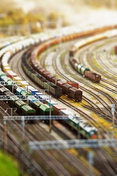 A Beautiful Miniaturized World Captured By Tilt Shift Photography...love this.  So cool!