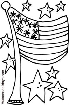 Hudson's Holidays - Designer Shirley Hudson: Star Spangled Flag freebie