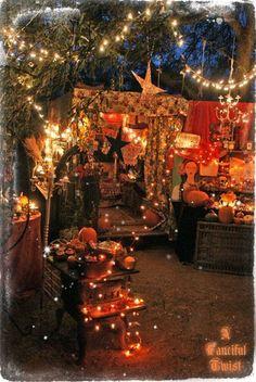 twinkle lights autumn Halloween decor