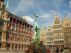 One of the main landmarks of antwerp belgium is the statue of silvius ...