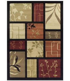 Dalyn Carlisle Black Panel Area Rug