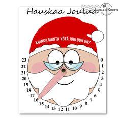 Joulukortti - askartelu - Joulukello  Tästä kortista voi halutessaan askarrella joulukellon!