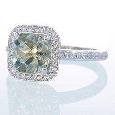 Green amethyst wedding ring