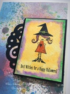 I made this card recently using Unity Stamp Co stamps, watercolor paints and Prima Color Sprays. It's a Halloween theme card and I know it's...