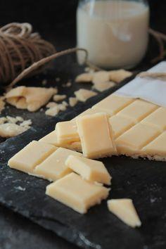 Chocolate blanco sin lactosa  www.recetassinlactosa.com