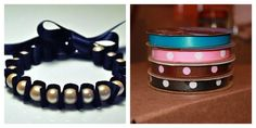Ribbon and Pearl Bracelet by Secret Whispers $7